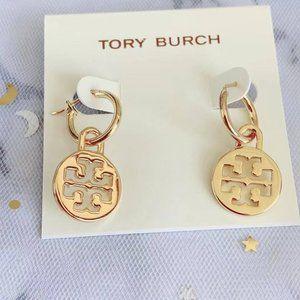 Tory Burch Fashion Simple Logo Earrings
